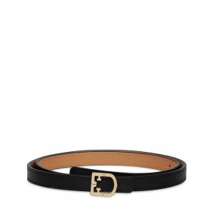 Furla Belvedere S Woman's Belt (Medium) - Onyx