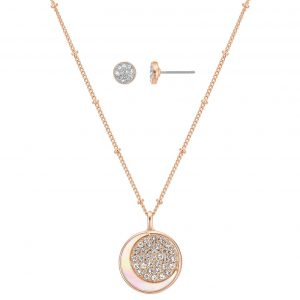 Buckley London - To the Moon and Back Earring and Pendant Set