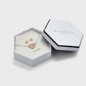 Buckley London - Heart Link Pendant and Earring Set