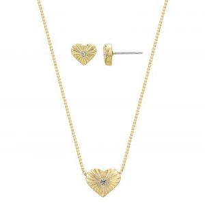 Buckley London - Hear of Gold Earring and Pendant Set