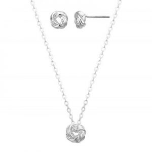Buckley London - Tie The Knot Earring and Pendant Set