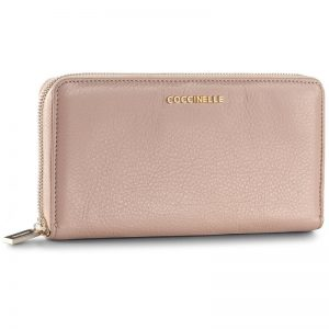 Coccinelle - Metallic Soft w Zip Large Wallet - Pivoine
