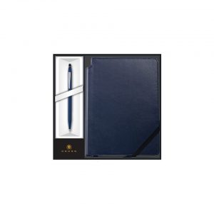 Cross - Click Midnight Blue Ballpoint Pen with Midnight Blue Journal Gift Set