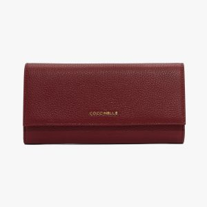 Coccinelle - Metallic Soft Wallet - Grape