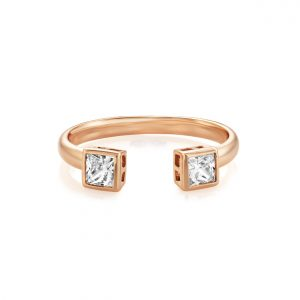 Buckley London - Central Princess Open Ring - Rose Gold