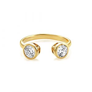 Buckley London - Central Brilliant Open Ring - Gold